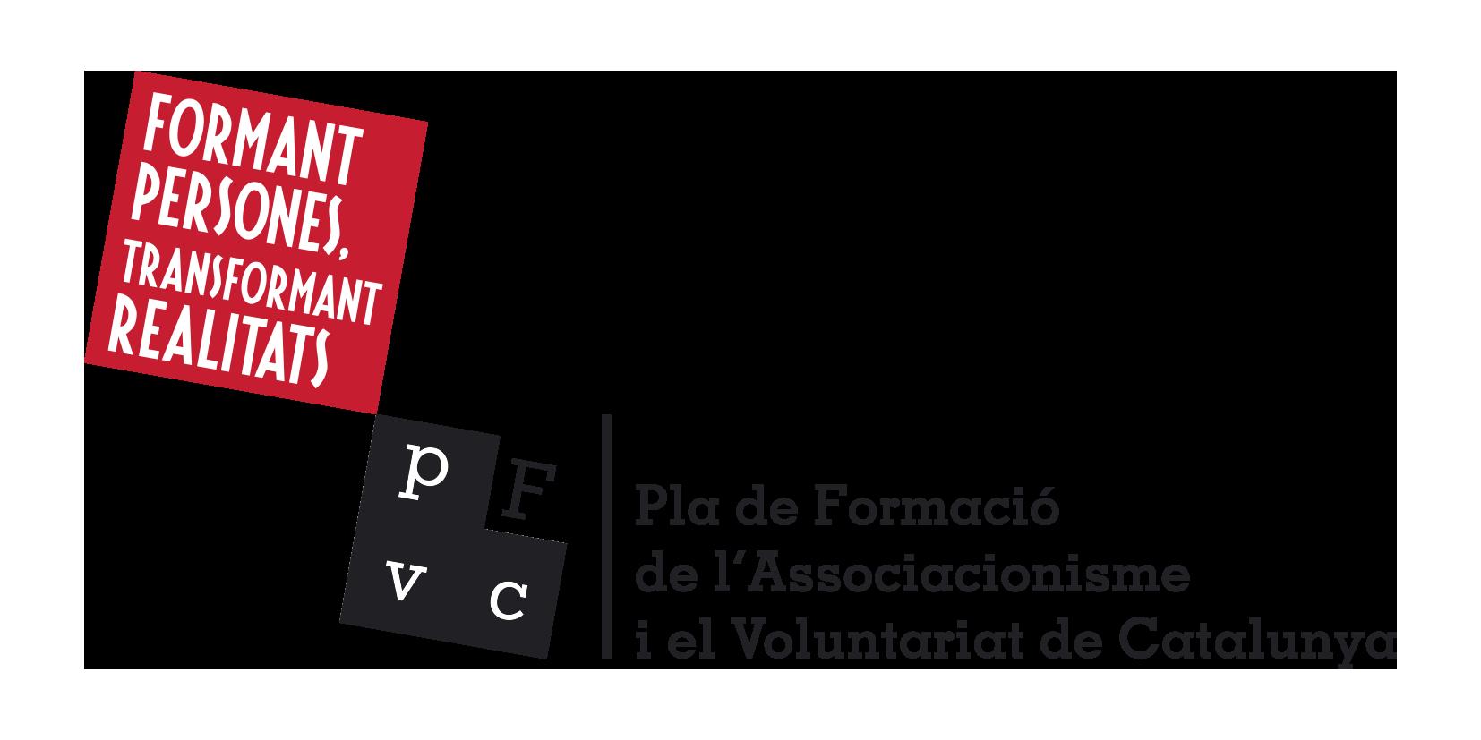Logotip del Pla de Formació del Voluntariat de Catalunya (PFAVC)